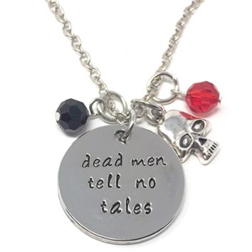 """""""Dead Men Tell No Tales"""" Pirate Stamped Necklace"""
