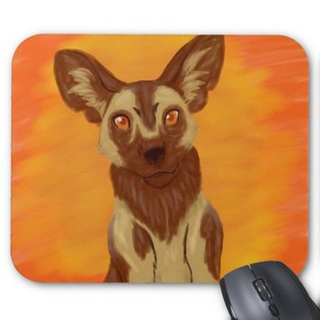 African Wild Dog Mouse Pad