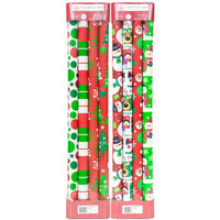 Walmart: 4-Roll Red/Green Wrap, 2-Pack