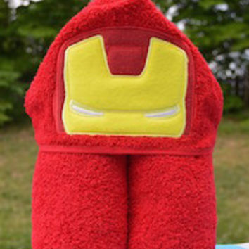 Iron Guy Hooded Towel