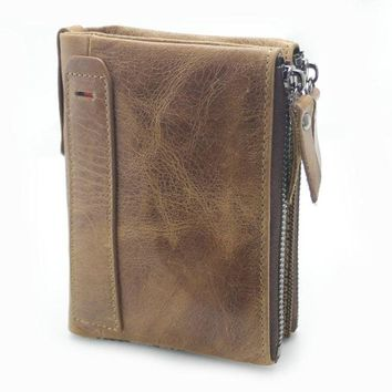 Anti Theft RFID Mens Leather Wallet