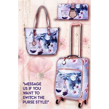 Fairytale 3PC Set | Carry-on Underseat Travel Luggage with Spinners