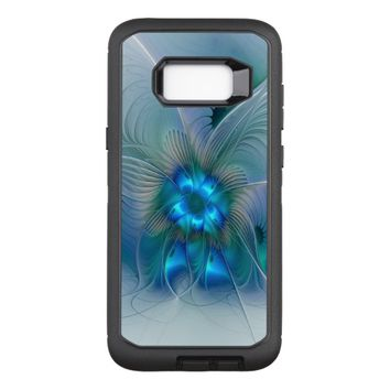Standing Ovations, Abstract Blue Turquoise Fractal OtterBox Defender Samsung Galaxy S8+ Case