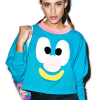 Lazy Oaf Face Sweatshirt Blue One