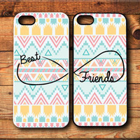 iPhone 5 5S case, iPhone 4 case, Samsung Galaxy S3 S4 Case Aztec Pattern Best friends Forever BFF Infinity personalized Protective Case