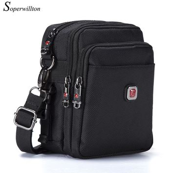 Soperwillton Brand Men's Bag Messenger Bag Waterproof Men Belt Bag Oxford 1680D Zipper Bag Crossbody For Male