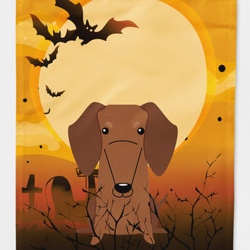 Halloween Dachshund Red Brown Flag Canvas House Size BB4396CHF