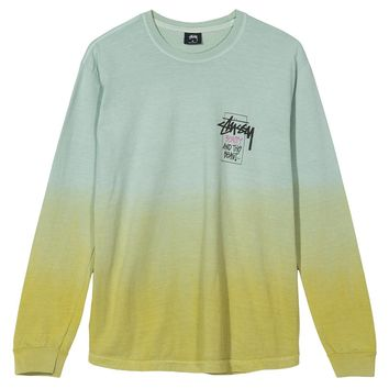 Stussy Offering Dip Dyed LS Tee Lime