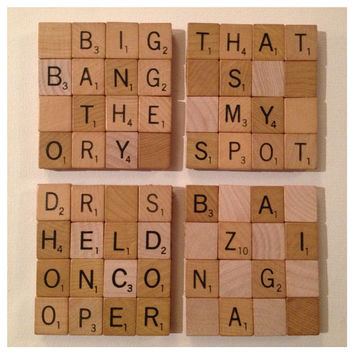 The Big Bang Theory Scrabble Coasters (Set of 4)