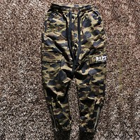 Bape   Fashion Casual Simple Pants Trousers