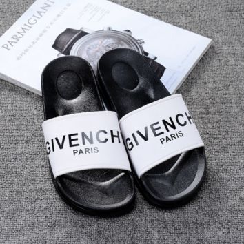 Givenchy Paris Casual Fashion Women Men Print Sandal Slipper Shoes G