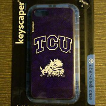 TCU Horned Frogs Texas Christian iPhone 5 Slim Hard Snap-On Case University of