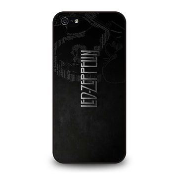 LED ZEPPELIN LYRIC iPhone 5 / 5S / SE Case Cover