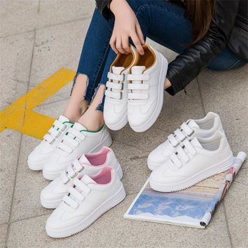 2018 Sneakers women Brand leather sport shoes woman Running shoes for women Platform arena Athletic Trainers zapatos mujer 35-40