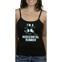 "Pitch Perfect ""I'm A Horizontal Runner""- Fat Amy- Tank- Top- Shirt- Womens Clothing"
