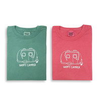 Happy Camper Adult Short Sleeve Tee