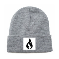 Like Moths To Flames Men's Flame Beanie Grey