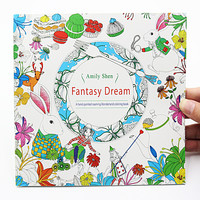 1 PCS 24 Pages Fantasy Dream English Edition Coloring Book For Children Adult Relieve Stress Kill Time Painting Drawing Book