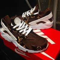 SPBEST SUPREMe X LV X NIKE HUARACHES brown Collab