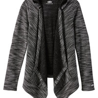 Spacedye Hooded Blanket Cardigan - Black