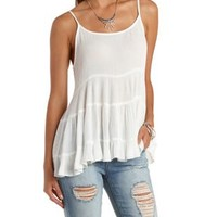 Caged & Tiered Tunic Tank Top by Charlotte Russe