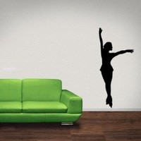 Figure Skater Vinyl Wall Decal Sticker Graphic By LKS Trading Post