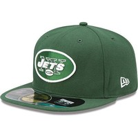 New Era Hat Cap NFL Football New York Jets 7 3/8 59fifty 2012 Sideline Fitted