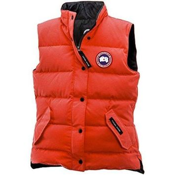 CREYHB6 Canada Goose Freestyle Down Vest - Women's Monarch Orange, XS  canada goose women vest