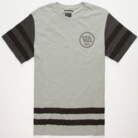 Rvca Splitter Mens T-Shirt Grey  In Sizes