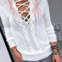 Autumn new sexy openwork sweater casual solid color turtleneck sweater female
