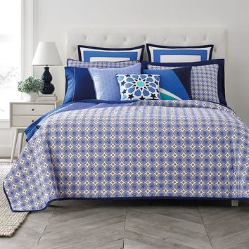 Happy Chic by Jonathan Adler Zoe Reversible Quilt (Blue)