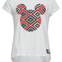 Neff Disney Collection Geometric Mickey Girls Tee White  In Sizes