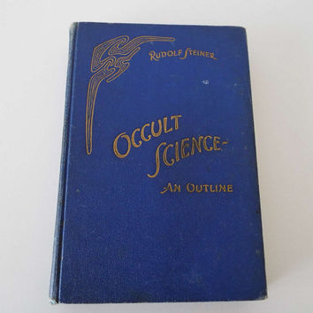 Rare Vintage 1939 Occult Science An Outline Rudolf Steiner Hardback Book Spiritual Theology Sleep Death Astral World Cosmos