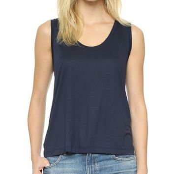 Low Neck Flared Tank