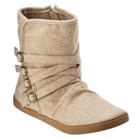 Womens Mossimo Supply Co. Keitha Flat Flannel Boots - Tan