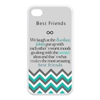 Generic Best Friends Design Hard Case for Iphone 4/4s