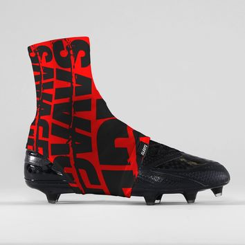 Savage Chroma Red Black Spats / Cleat Covers