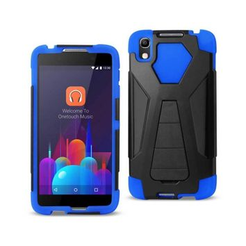REIKO ALCATEL IDOL 4 HYBRID HEAVY DUTY CASE WITH KICKSTAND IN NAVY BLACK