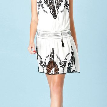 Black & White Embroidered Sundress
