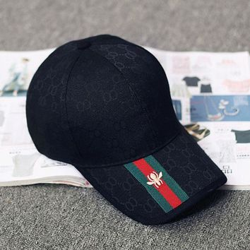 GUCCI Women Men Fashion Print Embroidery Sports Sun Hat Baseball Cap Hat G