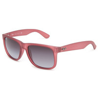 Ray-Ban Justin Sunglasses Transparent Violet Rubber/Poly Grey Gradient One Size For Men 23434830001