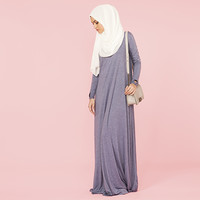 LIGHT DENIM HIGH NECK COTTON ABAYA - £54.99 : Inayah, Islamic clothing & fashion, abayas, jilbabs, hijabs, jalabiyas & hijab pins