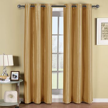 GOLD 42x96 Soho Grommet Thermal coating Blackout Window Curtain Panel