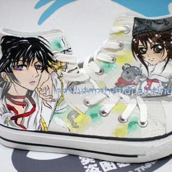 CREYONB Anime Theme Hand Painted Converse Code Geass and Vampire Knight Custom Converse Sneake