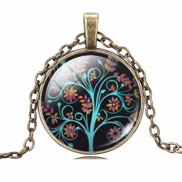 Flowers Life Tree Necklace