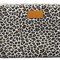 Kayond®Cute Leopard's Spots Style Canvas Fabric Ultraportable Neoprene 15-15.6Inch Laptop / Notebook Computer / MacBook / MacBook Pro / MacBook Air Sleeve Case Bag Cover