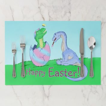 Easter Dinos Paper Placemat