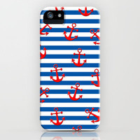 Anchors Aweigh! iPhone & iPod Case by Taylor Payne