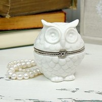 Owl Shaped Trinket Box