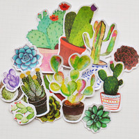 22pcs Self-made Potting Plants Scrapbooking Stickers Decorative Sticker DIY Craft Photo Albums Decals Diary Deco